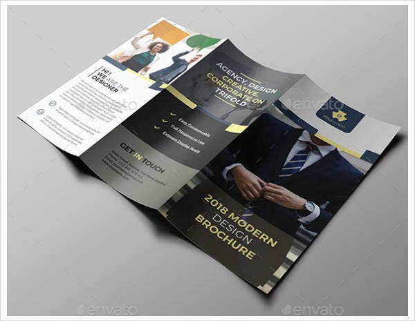 recruiter trifold brochure design