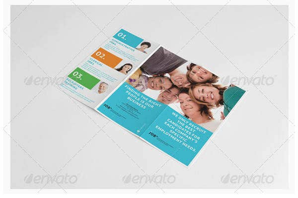 recruiting agency trifold brochure template