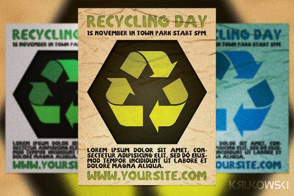 recycling day flyer design