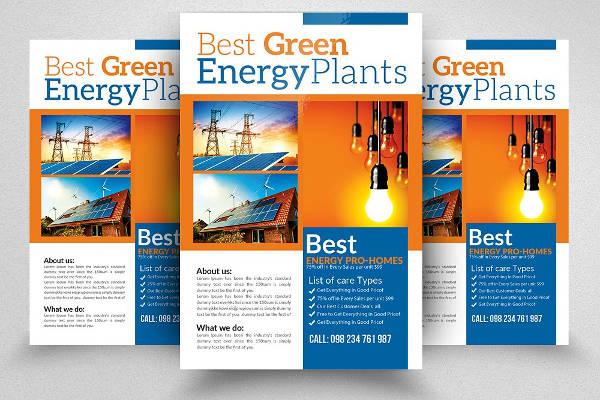 Renewable Energy Flyer Sample