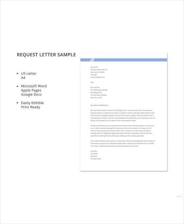 request letter sample