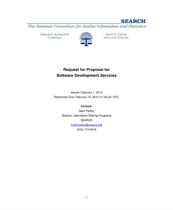 request for software services proposal 01