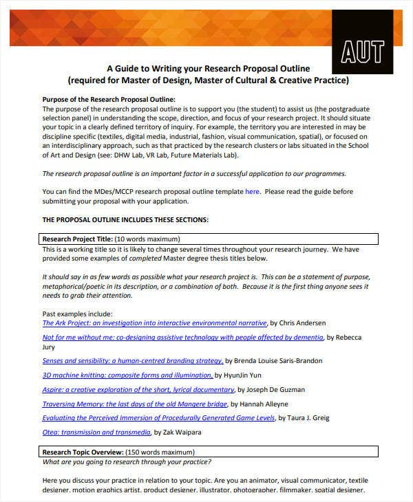 research proposal outline guide
