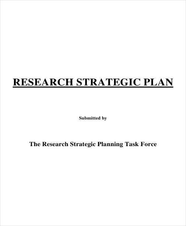 research strategic plan sample