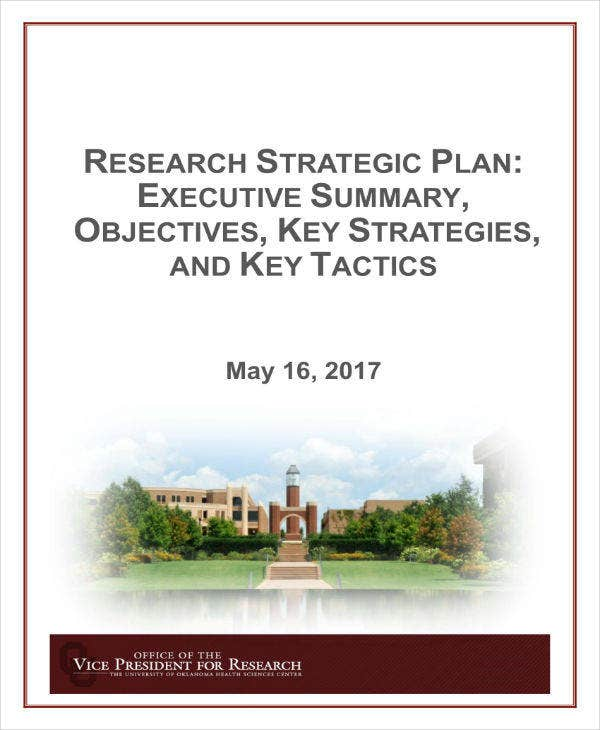 research strategic plan template