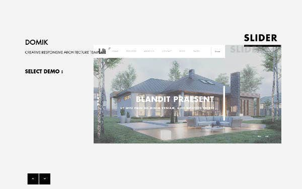 Responsive Architecture Website Theme