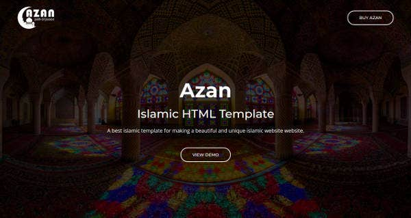 Responsive Islamic HTML Template