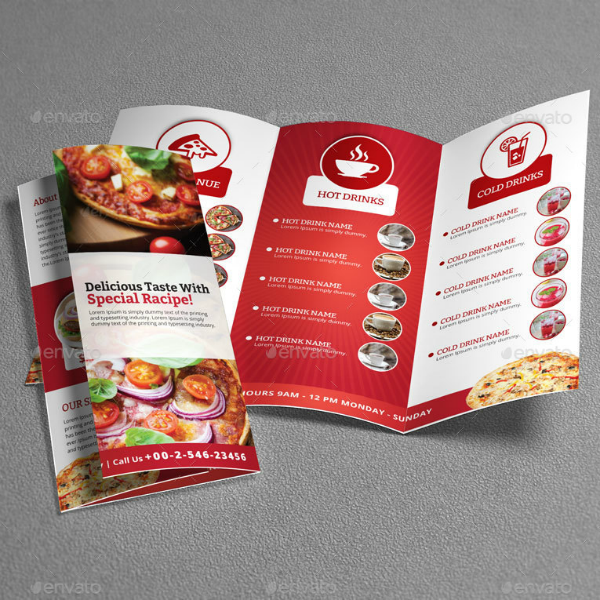 Restaurant Food Trifold Brochure Template