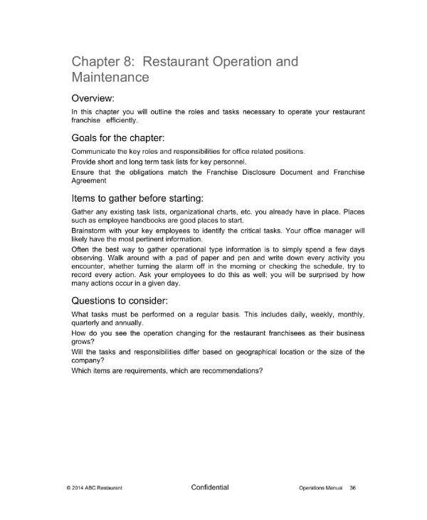 9+ Restaurant Operational Plan Templates & Samples - PDF