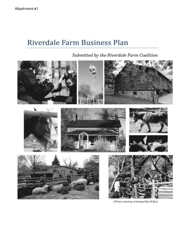 riverdale farm business plan 01
