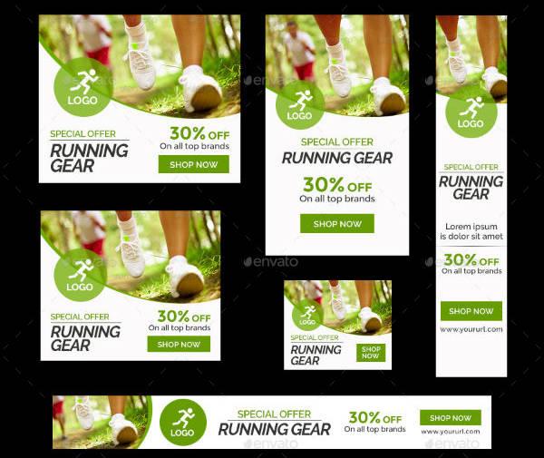 Running Sports Banner Template
