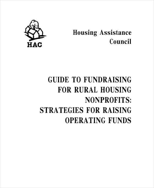 Rural Housing Fundraising Plan Sample