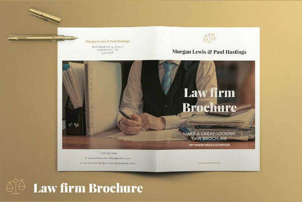 Rustic Attorney Brochure Template