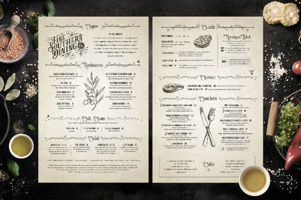 Rustic Restaurant Menu Card Template