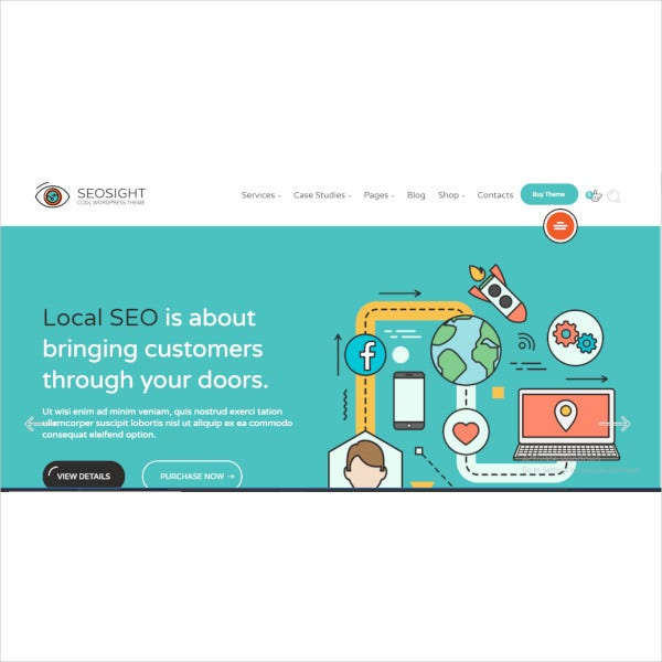 seo digital marketing agency wp theme with shop