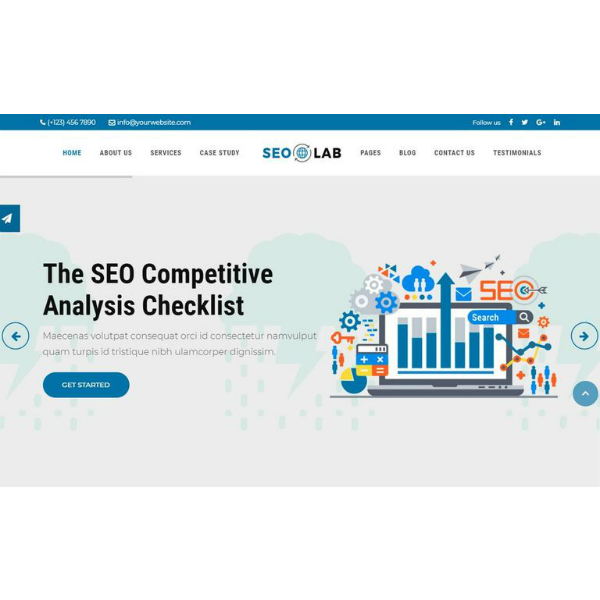 SEOLab Agency Joomla Website Template
