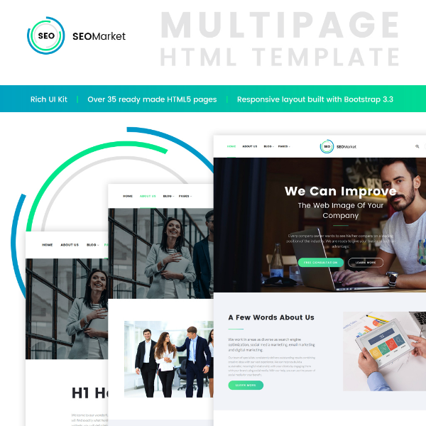 SEOMarket Digital Agency Website Template