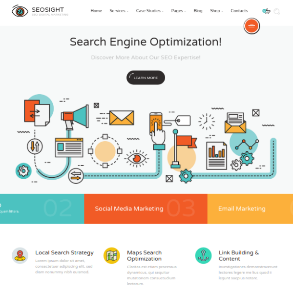 SEOSight Marketing Agency Website Template