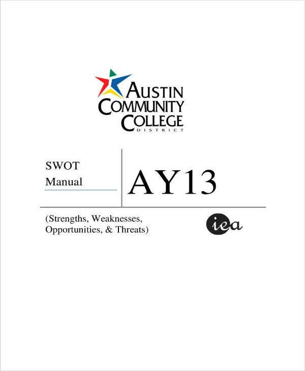 swot analysis of the college