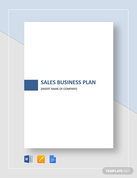 business plan sales