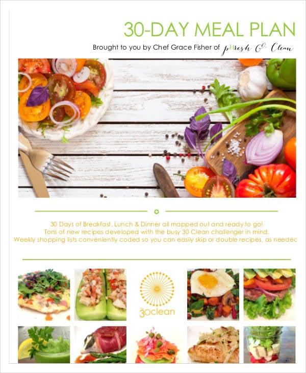 sample 30 day meal plan
