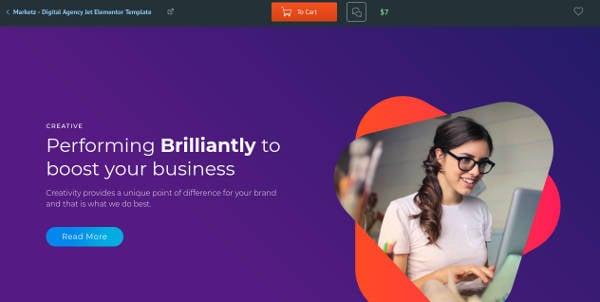 sample digital marketing agency theme