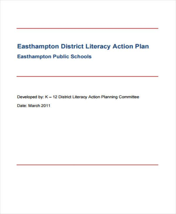 sample district literacy action plan