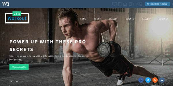 sample-fitness-website-template