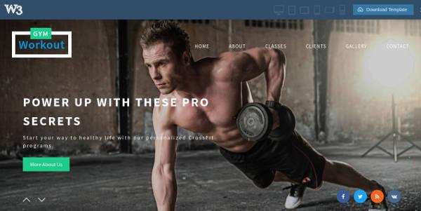 sample-fitness-website-template