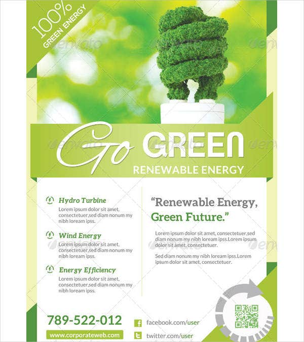 sample green flyer template