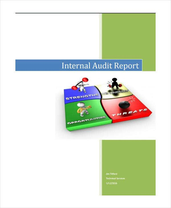 Sample Internal Audit Report Example