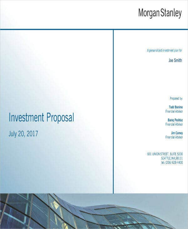 Sample Investment Proposal