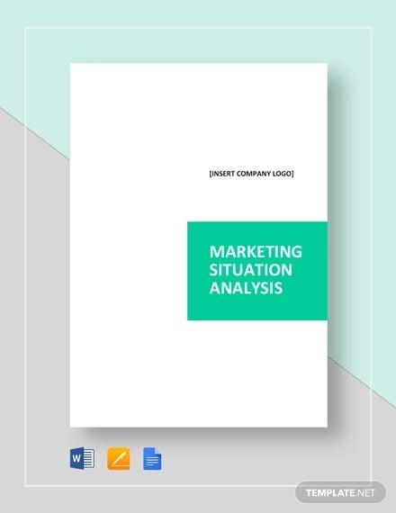sample marketing situation analysis template