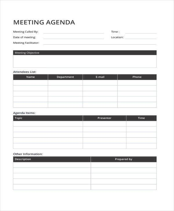51+ Meeting Agenda Templates - PDF, DOC
