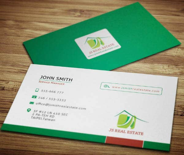 Sample Real Estate Business Card