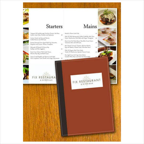 Sample Restaurant Menu Design