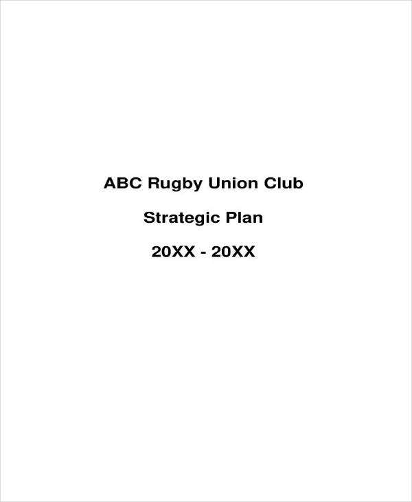 Sample Rugby Strategic Plan