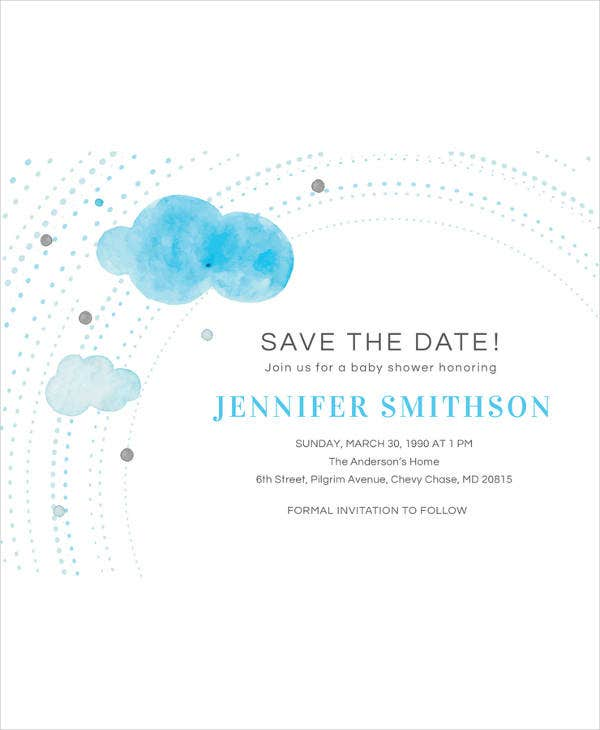 save the date baby shower invitation