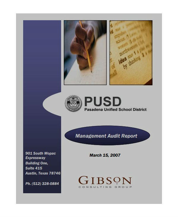 school management audit report template