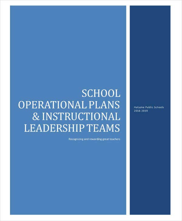 School Operational Plan Sample