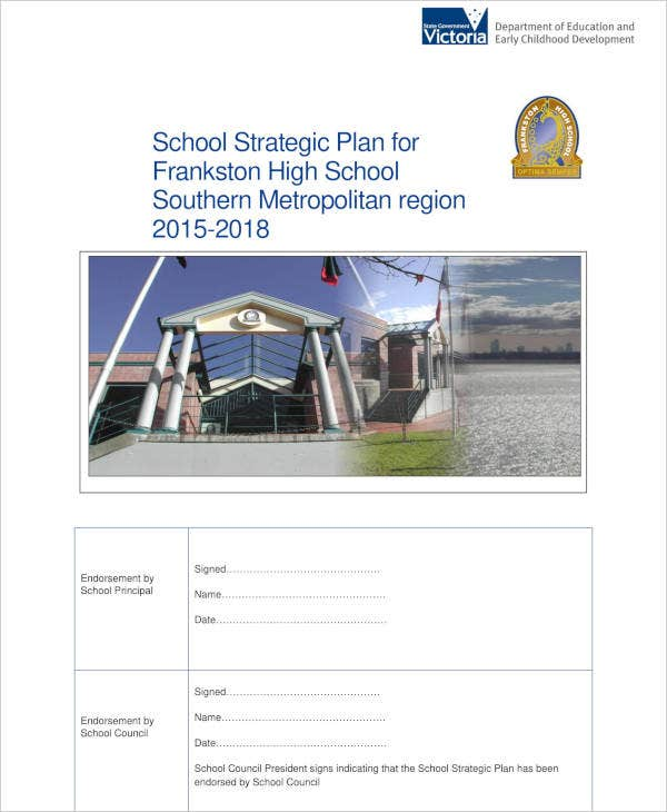 School Strategic Plan Report