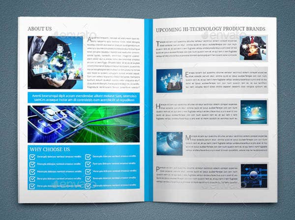 Science Technology Brochure Design