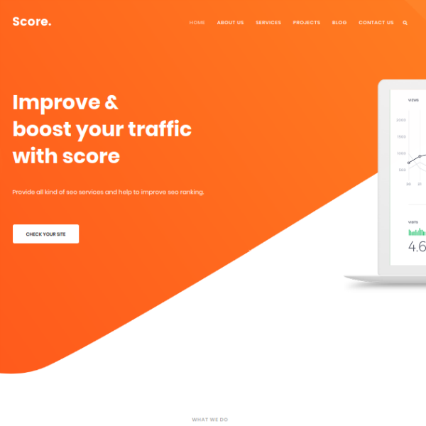 Score SEO Agency Website Template