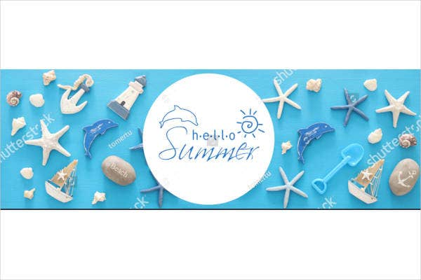 Seashells Nautical Banner Design