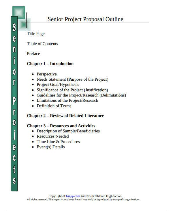 simple project outline template