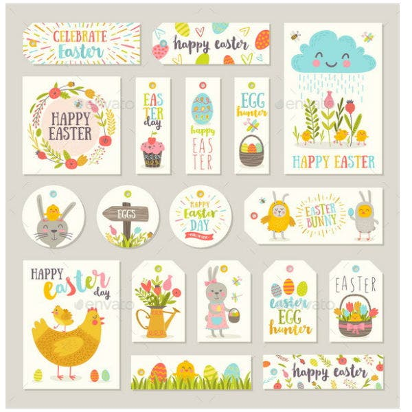 15 gift label templates psd ai free premium templates set of easter gift tags and labels negle Choice Image