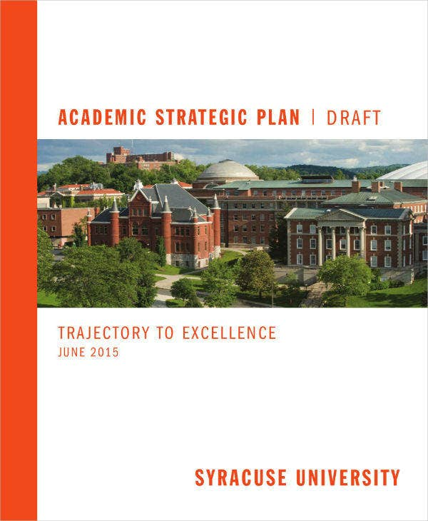 Simple Academic Strategic Plan