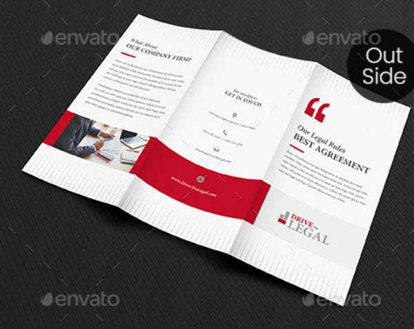 Simple Attorney Tri-Fold Brochure Template