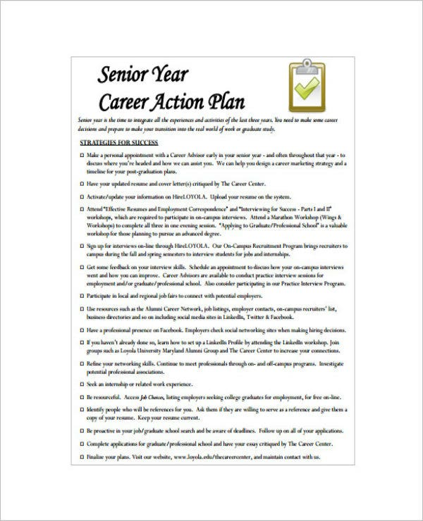 simple career action plan