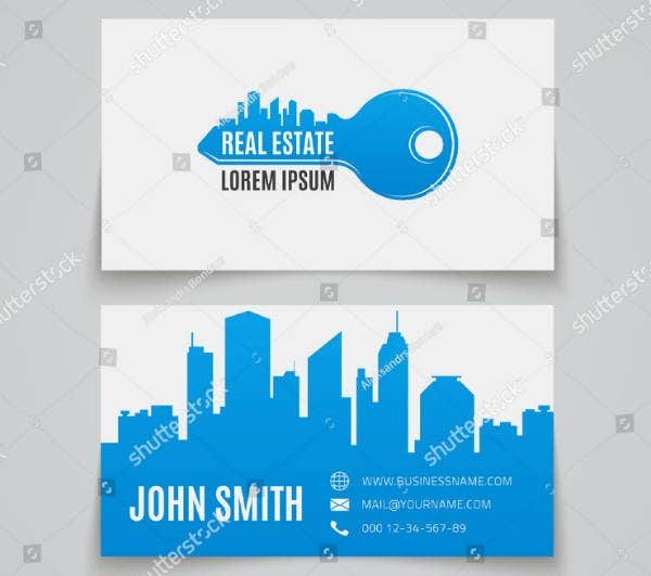Simple & Clean Real Estate Business Card